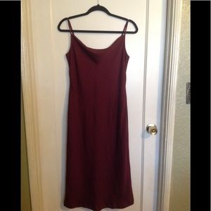 Banana republic maroon dress